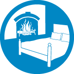 fireplace bed icon 150