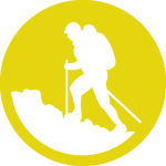 hiker icon yellow 150